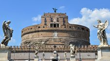 Free Castle Sant Angelo In Rome Royalty Free Stock Photos - 20818228