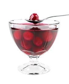 Free Cherry Jam On Bowl Stock Photos - 20818443