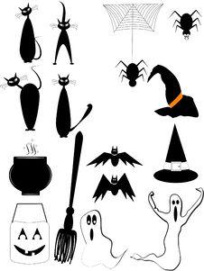 Free Halloween Elements Stock Image - 20818621