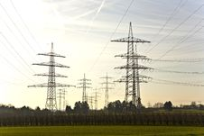 Electrical Tower With Sky Royalty Free Stock Photo