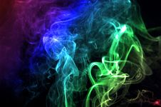 Colorful Smoke Abstract Curly Royalty Free Stock Photos