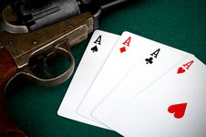 Free Four Aces And Colt Royalty Free Stock Image - 20819156