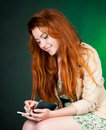 Free Beautiful Red Haired Woman Royalty Free Stock Images - 20823899