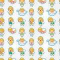 Free Seamless Angel Pattern Royalty Free Stock Photo - 20824095