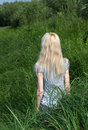 Free Long-haired Girl Bush Grass. Stock Photos - 20828303