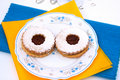 Free Hungarian Cookies With Jam Royalty Free Stock Photography - 20829487