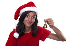 Free Beautiful Girl In Santa Clause Dress Royalty Free Stock Photography - 20820247