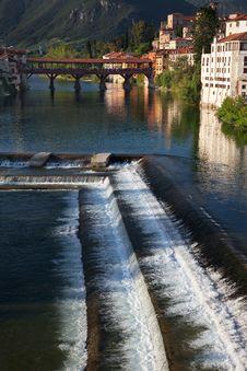 Free Bassano Alpines' Bridge Royalty Free Stock Photos - 20820278
