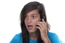 Free Teenage Girl Talking On The Phone Royalty Free Stock Photos - 20820288