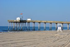 Fishing Pier Stock Photo