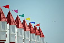 Free Flags On Towers Stock Images - 20820924