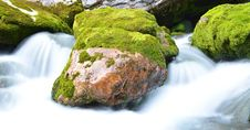 Free Rock In A Stream Of Water Royalty Free Stock Image - 20821866