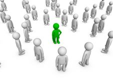 Free Individuality In A Crowd Royalty Free Stock Images - 20822369