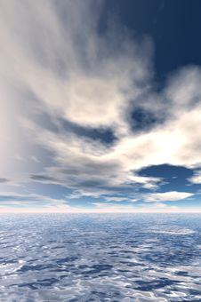 Free Sky With Clouds And Sea Stock Photo - 20822720