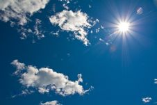 Free Sun Shining Down From A Clouded Sky Royalty Free Stock Photography - 20823097