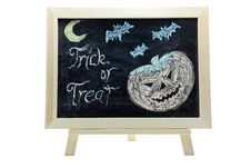 Free Halloween Trick Or Treat Drawing Stock Image - 20823441
