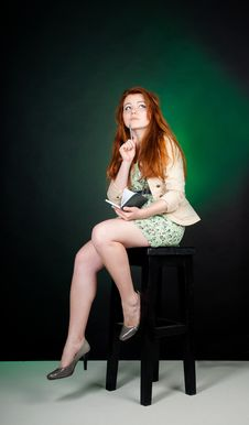 Free Beautiful Red Haired Woman Royalty Free Stock Photography - 20823877