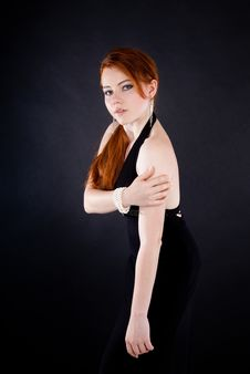 Free Beautiful Red Haired Woman Royalty Free Stock Photos - 20824018