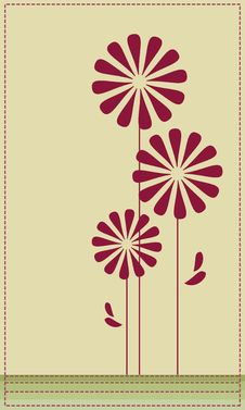 Vector Flower Card Stock Images