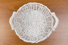 Free Wicker Basket On Table Stock Photo - 20825670