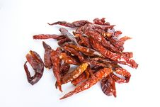 Free Dried Red Hot Chilli Pepper Royalty Free Stock Photography - 20825757