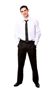 Free Young Businessman Isolated Over White Royalty Free Stock Images - 20826139