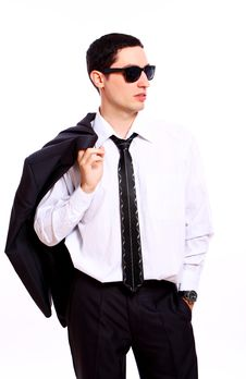 Free Young Businessman In Sunglasses Royalty Free Stock Photos - 20826158