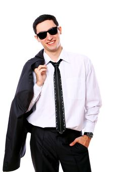 Free Young Businessman In Sunglasses Royalty Free Stock Photo - 20826165