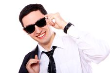 Free Young Businessman In Sunglasses Royalty Free Stock Photos - 20826168