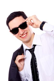 Free Young Businessman In Sunglasses Royalty Free Stock Photo - 20826175