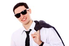 Free Young Businessman In Sunglasses Royalty Free Stock Photography - 20826177