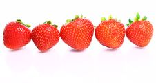 Free Close Up Of Fresh Strawberry Berries Royalty Free Stock Images - 20826349