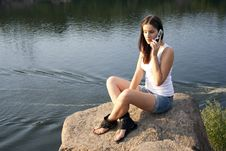 Free Adult Girl Talking On The Phone Royalty Free Stock Photo - 20826405