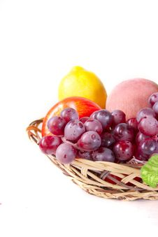 Free Fruits In Basket Royalty Free Stock Photography - 20826437