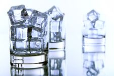 Glass Filled With Ice Cubes Stock Photography