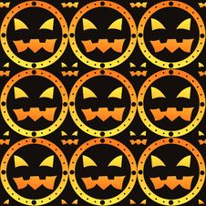 Free Scary Halloween Pattern Stock Image - 20827091