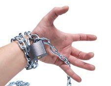 Free Chain On Human Hand Stock Photo - 20827330