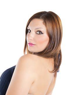 Free Fashion Model Who Smiles Royalty Free Stock Photography - 20827397