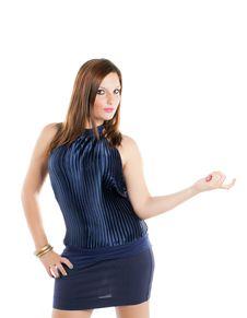 Free Fashion Model Who Smiles Royalty Free Stock Images - 20827409