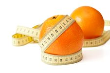 Free Centimetric Tape And Orange Stock Photo - 20827650