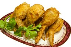 Fried Chickens Leg. Stock Image