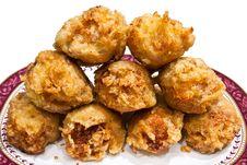 Fried Chickens Leg. Stock Photos