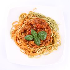 Free Spaghetti Bolognese Royalty Free Stock Photography - 20828047