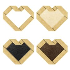 Free Heart Origami Recycled Paper Craft Royalty Free Stock Images - 20828109