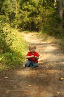 Free Baby Outdoors Royalty Free Stock Image - 20828656