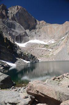 Free Chasm Lake - Colorado Royalty Free Stock Photography - 20828857