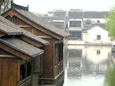 Free At The Water Town-tongli Royalty Free Stock Image - 20828966