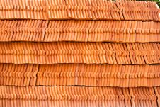 Free Stack Of Ceramic Roof Tiles Stock Photography - 20828982