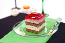 Vanilla And Raspberry Cream Cake Stock Photos