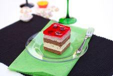 Vanilla And Raspberry Cream Cake Stock Image